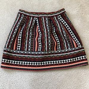 Patterned xhilaration skirt
